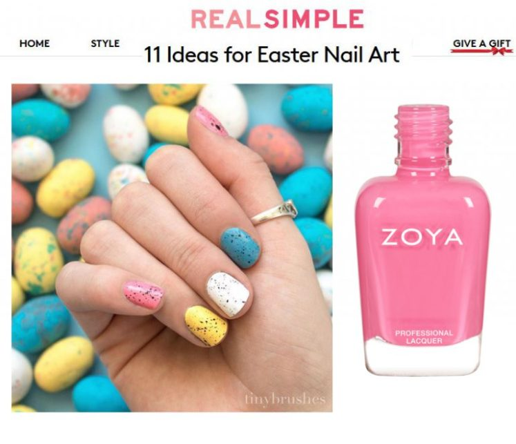 Try Easter Nail Art With Zoya Zoyaop